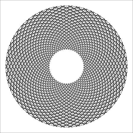 Circle design element. Abstract geometric rotation circular pattern. Vector art.