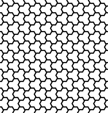 Seamless geometric pattern. Black and white texture and background. Vector art.