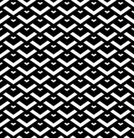 Seamless  black and white geometric pattern. Vector art.