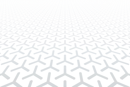 Geometric pattern. Diminishing perspective. White background. Vector art. Illustration