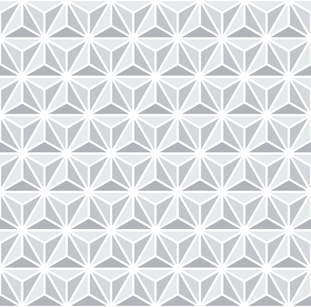 Seamless 3d geometric pattern. White and grey background and texture. Vector art.