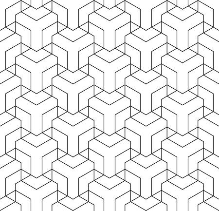 Seamless geometric pattern. Line texture. Vector art. 일러스트