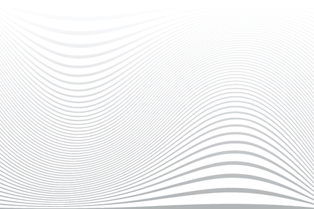 White wavy lines background. Abstract striped texture. Vector art. Illustration