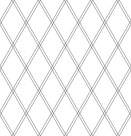 Seamless diamonds pattern. Geomrtric texture. White textured background. Vector art. Illustration