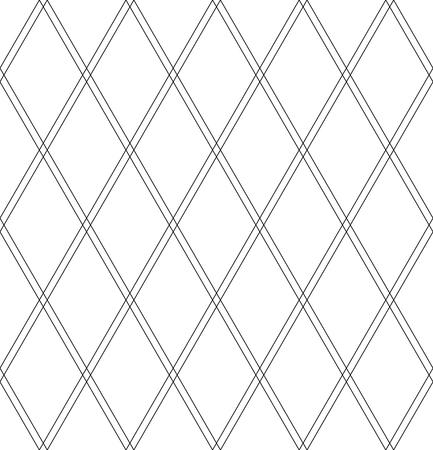 Seamless diamonds pattern. Geomrtric texture. White textured background. Vector art. Illustration