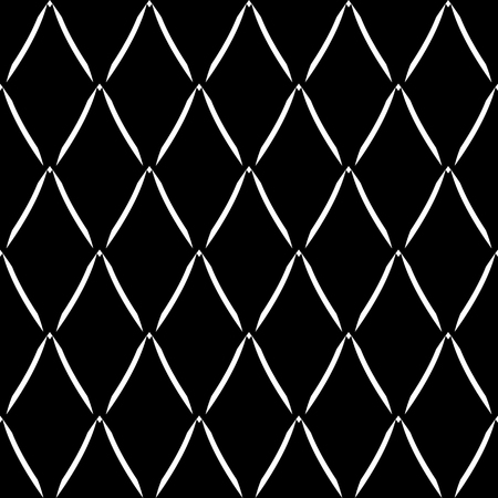 Seamless geometric diamonds pattern. Abstract black textured background. Vector art. 일러스트