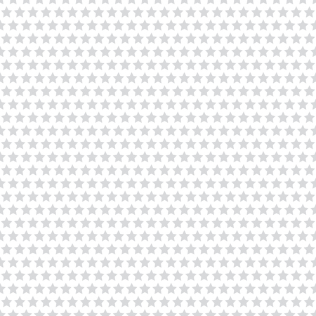 Seamless stars pattern. White geometric textured background. Vector art.