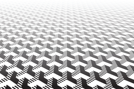Abstract geometric pattern. Optical illusion effect. Vector art. Ilustrace