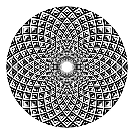 Circle design element. Abstract geometric rotation pattern. Vector art.
