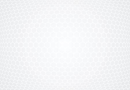 Hexagons pattern. White textured background. Vector art.
