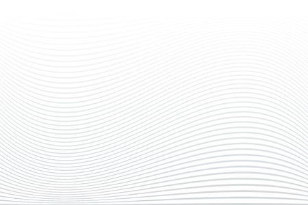 White striped background. Abstract wavy lines texture. Vector art.