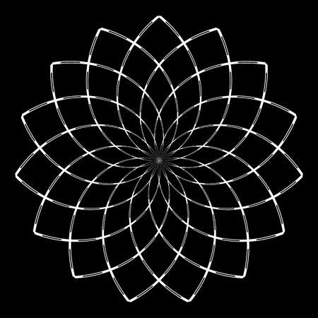 Circle design element. Abstract geometric rotation pattern. Vector art. 免版税图像 - 125882398