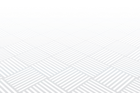 Geometric pattern. White textured background. Diminishing perspective view. Vector art.