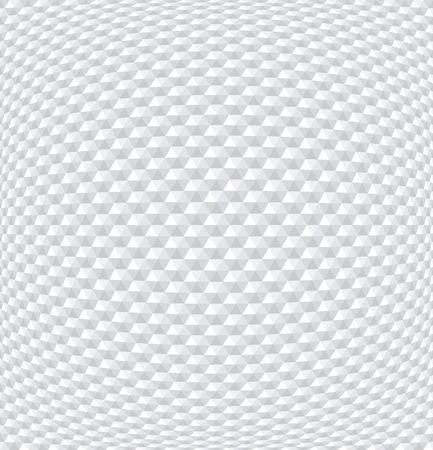 Convex hexagons pattern. White geometric background. 3D effect. Vector art.