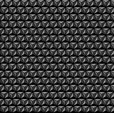 3D geometric pattern. Black and grey background and texture. Vector art.