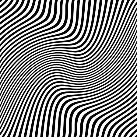 Abstract wavy lines design. Striped texture. Vector art.