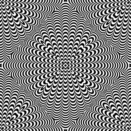 Seamless op art pattern. 3D texture. Vector art.