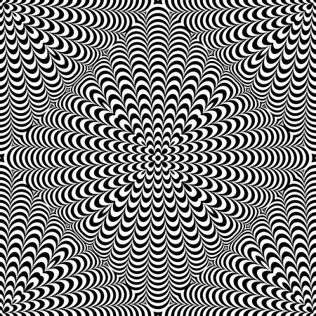 Wzór bezszwowe op-art. Tekstura 3D. Sztuka wektor. Ilustracje wektorowe