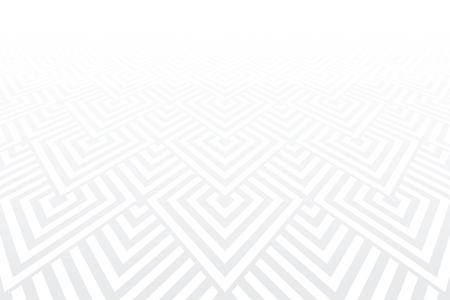 Geometric pattern. White textured background. Diminishing perspective view. Vector art. Foto de archivo - 125318320