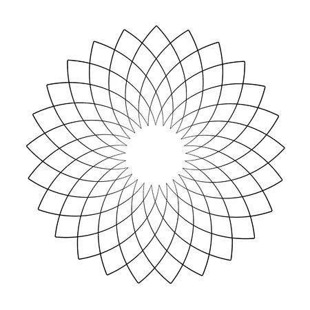 Circle design element. Abstract geometric pattern. Vector art.