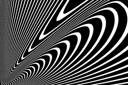 Lines design. Abstract black and white background. Vector art. Illustration