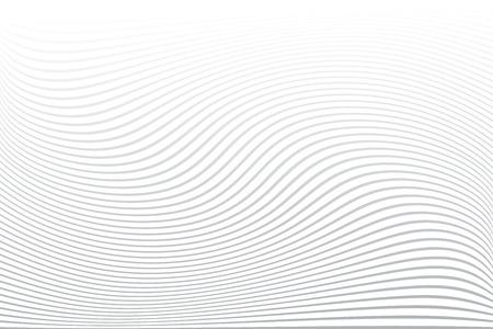White textured background. Wavy lines texture. Illustration