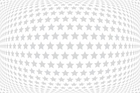 Stars pattern. White textured background. Vector art.