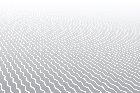Zigzag lines pattern. Diminishing perspective. Textured background. Vector art.  イラスト・ベクター素材