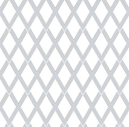 Seamless diamonds pattern. Geometric striped lines texture. Vector art.
