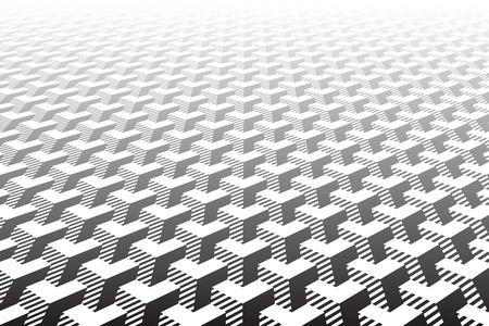 Abstract geometric pattern. Optical illusion effect. Vector art.  イラスト・ベクター素材