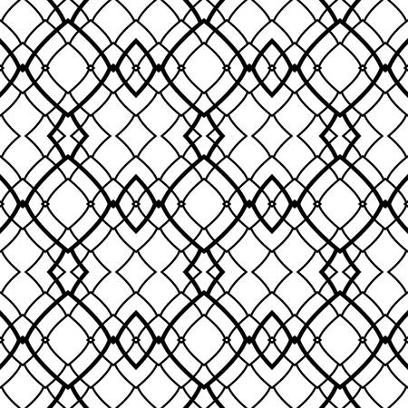 Seamless decorative modern oriental pattern. Vector art.