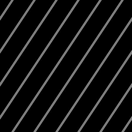Seamless diagonal pinstripe pattern. White striped lines texture on black background. Vector art. Vektorgrafik