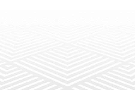 Geometric pattern. White textured background. Diminishing perspective view. Vector art. Ilustração Vetorial