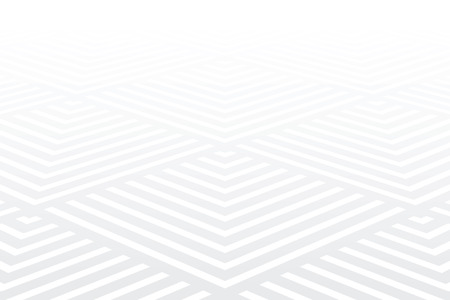 Patrón geométrico. Fondo de textura blanca. Vista en perspectiva decreciente. Arte vectorial. Ilustración de vector