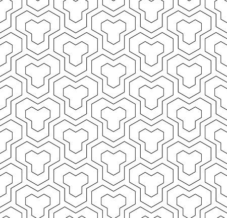 Seamless geometricl pattern. Vector art.