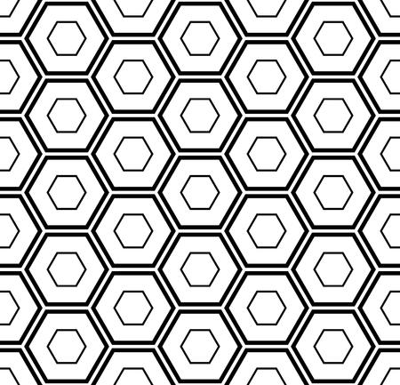Seamless hexagons pattern. Geometric texture. Vector art. Vector Illustration