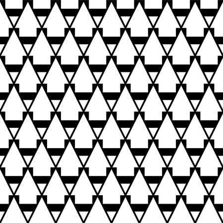 Seamless geometric pattern. Black and white texture. Vector art.