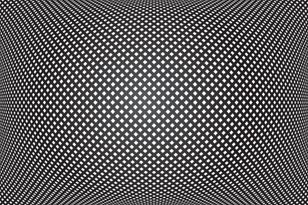 3D checked pattern. Convex geometric texture. Abstract black background. Vector art.  イラスト・ベクター素材