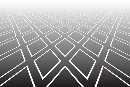 Abstract geometric diamonds pattern. Diminishing perspective. Textured background. Vector art.  イラスト・ベクター素材
