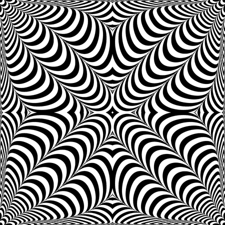 Op art pattern. 3D illusion. Abstract design. Vector art.