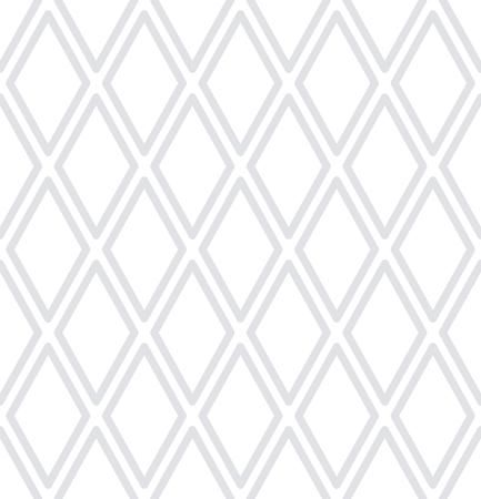 Seamless diamonds pattern. White geometric background. Vector art.  イラスト・ベクター素材