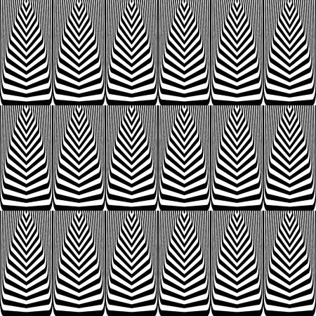 Seamless op art pattern. Lines texture. Vector art.  イラスト・ベクター素材