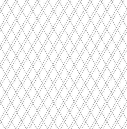 Seamless diamonds pattern. Geomrtric texture. White textured background. Vector art.  イラスト・ベクター素材