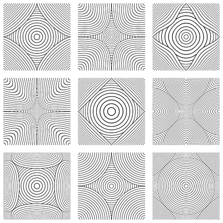Design elements set. Abstract lines patterns. Vector art.  イラスト・ベクター素材