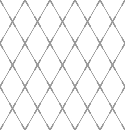 Seamless diamonds pattern. Geometric criss-cross lines texture. Vector art.  イラスト・ベクター素材