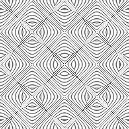 Seamless pattern. Circle lines texture. Vector art.  イラスト・ベクター素材