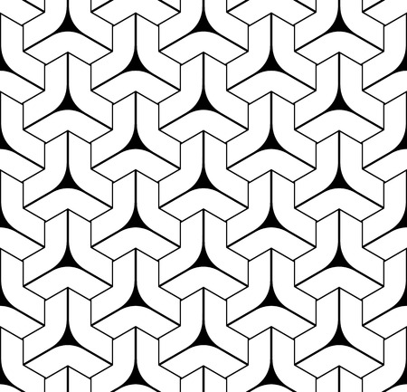 Seamless geometric isometric pattern. 3D illusion. Abstract textured background. Vector art.