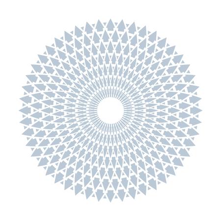 Circle design element. Round geometric pattern. Vector art. Vector Illustratie