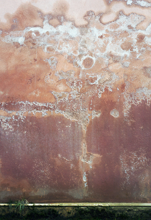 Old weathered damaged wall. Grunge texture. Surface spoiled by a mold. 写真素材