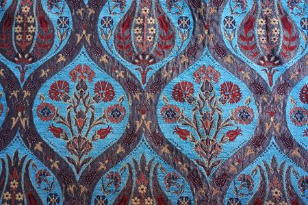 Traditional Turkish carpet. Floral pattern